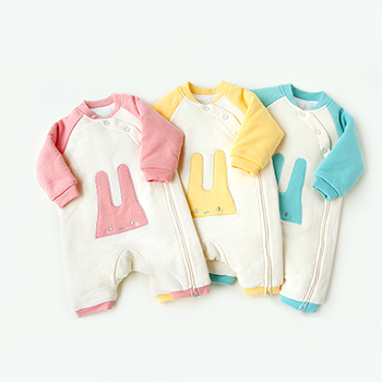 Nanjiren newborn cotton warm clothes 0-3 months baby lace suit warm - thickened monk wide green stripes 59cm White