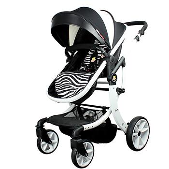 L-Sun small sun baby stroller, high landscape baby carrier, shock proof folding child cart, light umbrella car, baby cart, stroller, baby carrier Black
