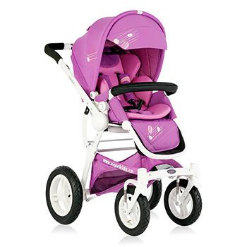 Babyruler baby stroller, light folding, reclining baby, Che Baobao umbrella, child cart, ST136 litre White