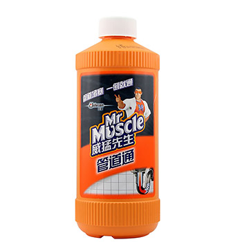 Mr. Vermeer pipe double bottle 500g*2 sewer pipe dredging agent agent toilet dredge agent  two bottles of FCL.